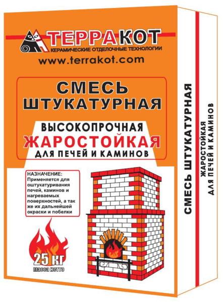 Смесь штукатурная Терракот жаростойкая 25кг - купить в Тихвине, отзывы. ТД «Вимос»